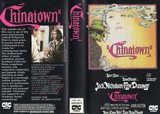 CHINATOWN - Jack Nicholson -VHS - PAL -NEW - Never played! - Original Oz release