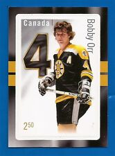 CANADIAN CANADA POST BOBBY ORR HOCKEY $2.50 STAMP-CARD NM MINT