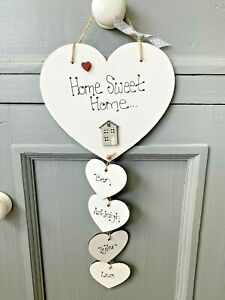 Personalised First Home Sweet Home sign plaque Heart gift new house family Pet