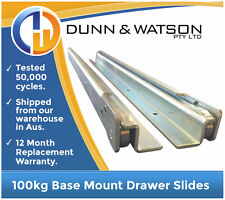 1450mm 100kg Base Mount Drawer Slides / Fridge Runners - Draw Trailers Toolbox