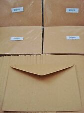 100 Kraft C6 Envelopes Brown Recycled Craft Card Making Cardmaking FREE POSTAGE