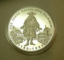 Hansestadt Hamburg 800 Jahre Kaufmann Tracht Silber 999PP Ø40mm Hamburger Wappen