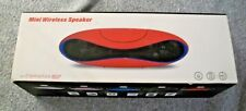 Mini Wireless Bluetooth Speaker w/Control Talk - RED - Phone/Laptop/PC Range 10M