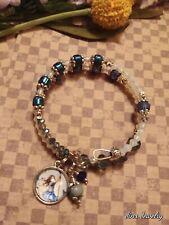 Bracelet Boho Style Natural Stone Fairy Charm Beaded Opal Druzy Handmade OOAK