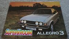 Austin Allegro 3 Sales Super Vroom Brochure (Pub. No.3331) Sept 1979 1980 *