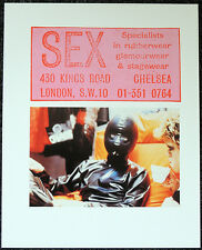 SEX SHOP 430 KINGS ROAD CHELSEA POSTER PAGE . MALCOLM MCLAREN SEX PISTOLS . Q22