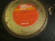 "EMPTY 7"" BIG METAL 35MM REEL CAN CANISTER 180M 600 FT AGFA CINEREX PFT BELGIUM"