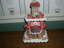 "KURT ADLER-9""H- B/O GINGERBREAD LED COOKIE HOUSE -NEW IN BOX-C-AS SHOWN"