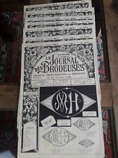 7 ANCIENS JOURNAUX LE JOURNAL DES BRODEUSES 1959 VINTAGE EMBROIDERY PATTERNS