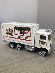 "Vintage 1988 Nylint Keebler Elf Delivery Metal Truck 8"" Long"