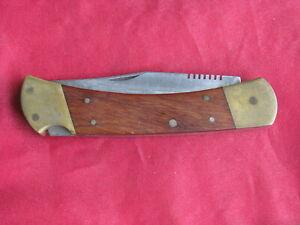KA-BAR Vintage Folding Lockback Hunting Knife w/Sheath
