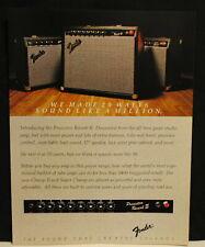 1982 Fender Princeton Reverb II, Champ II, Super Champ guitar amps print Ad