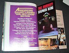 RARE High Grade 1st Ed. - STEVEN KING: THE MONKEE  (Insert to Galaxy Nov. 1980)