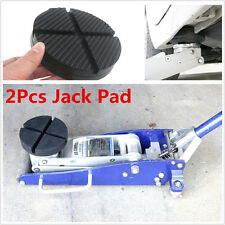 2Pcs Cross Slotted Frame Rail Floor Jack Disk Pad Adapter for Pinch Weld JACKPAD