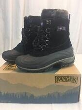 NEW Ranger Womens Champney Winter Boots BLACK Suede faux fur size 6