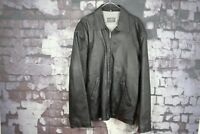 Ashy London Black Leather Jacket size XL No.Y392 06/2