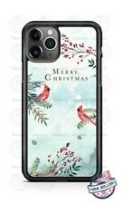 Red Cardinal Birds Merry Christmas Phone Case For iPhone Samsung LG Google