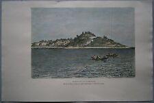 1887 Reclus print MONROVIA & CAPE MESURADO, LIBERIA, WEST AFRICA (#30)