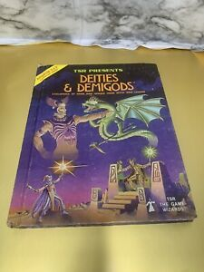 Advanced Dungeons & Dragons Deities & Demigods TSR Games 1980 144pages