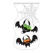 12 Halloween Bats Loot party Bags Seal Sealing Zipper Seal Trick Treat FREE P&P