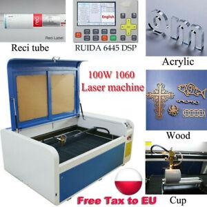 DSP 100W 1060 CO2 Lasergravur Schneidemaschine Ruida & Reci Tube Rotationsachse