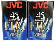 Cassettes vhsc neuves 2 EC45 Hi Fi video K7 vierges p. camescope livr. domicile