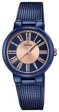 Festina F16967/1 Blue PVD Case and Blue  Milanes Mesh Bracelet 32mm Ladies Watch