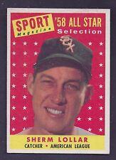 1958 Topps #491 Sherm Lollar All Star Chicago White Sox NM Plus