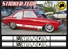 MAZDA ROTARY SIDE STRIPE STICKER DECAL KIT TO SUIT R100 RX2 RX3 RX4 RX7 RX8 MX5