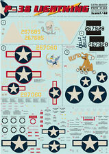Print Scale 48-037 - 1/48 Decal for P-38 Lightning