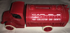 Ertl Carlisle Productions 1991 Collector Car Events Die Cast Metal Bank With Key