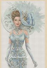 Cross stitch chart  Elegant Lady 156 Flowerpower37-uk.-.free uk P&p......