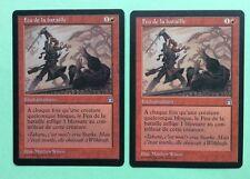 MTG MAGIC Carte FEU DE LA BATAILLE Heat Of Battle Ext. FORTERESSE Stronghold