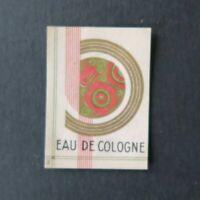 Etiquette parfum EAU DE COLOGNE Perfume Label French