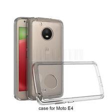 For Motorola Moto E4 Shockproof Clear Hybrid Rubber Armor Hard Phone Case Cover