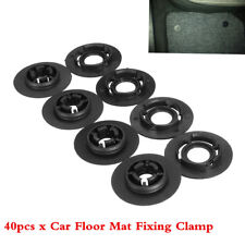 40PCS Black Car Carpet Mat Clips Floor Holders Fixing Grips Clamps Car Styling