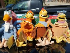 4 Chicken Run Plush chickens 2000 Dreamworks Toy Stuffed Animals F11
