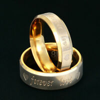 Titanium Steel Forever Love Ring Women Men Promise Couple Wedding Band Rings