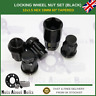 Black Locking Wheel Nuts M12X1.5 Bolts For Land Rover Freelander (1998-06)