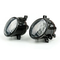 Pair Front Led Powered Front Fendinebbia Bright White Per Vw Jetta Mk5 05-09 IT