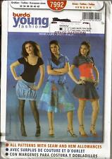 Burda 7992 Sewing Pattern Teen Young Fashion Semi-Fitted Skirts sizes 6 -16