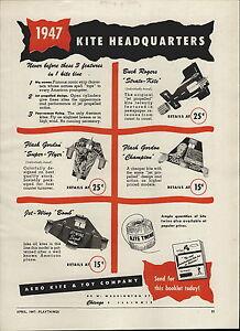 1947 PAPER AD Flash Gordon Kite Super Flyer Jet Wing Bomb Buck Rogers Strato