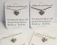 PERSONALISED, Be My Bridesmaid gift, Maid Of Honour Proposal, Bracelet, Card
