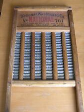 Antique National Washboard Co. No 701 Washboard The Zinc King Top Notch Sanitary