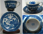 Blue Willow Transferware Tea Cup and Saucer - Occupied Japan