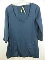 Womens black athletic top tunic sz L LOLE UPF 50 pockets Organic Cotton