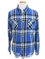 Urban Pipeline Mens Button Down Front Shirt Plaid Blue Sz XXLarge 2XL XXL
