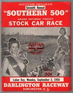 Southern 500-NASCAR Auto Race Program 9/3/1956-Darlington Int'l Raceway-VG/FN