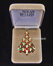 NOLAN MILLER CHRISTMAS TREE PIN, mint in box w/Certificate of Authenticity