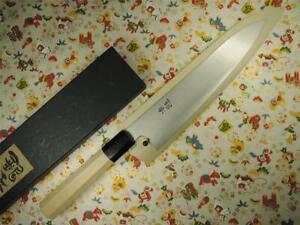 Ashi Hamono Ginga White Steel Wa-Gyuto Japanese Knife 210mm with Saya